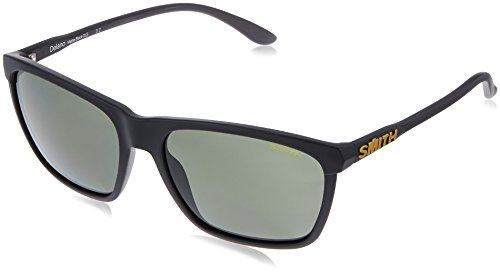 Smith Optics Smith Delano Sunglasses, Matte Black Frame, Carbonic Polarized Gray green Lens, Gray - Polarized Sunglasses Smith