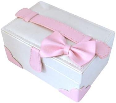 ジュエリーコトブキ ジュエリーケースボックス アクセサリー ピンクのリボンが可愛い宝石箱 鏡付き オーガンジーポーチ付