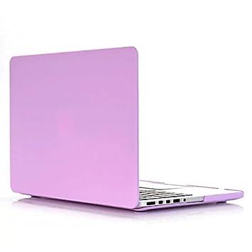 Carcasa MacBook Pro 13 - AQYLQ Protector de Plástico Cubierta [Candy Color] Funda Dura para Old MacBook Pro 13 Pulgadas con CD-Rom A1278 - Ciruela