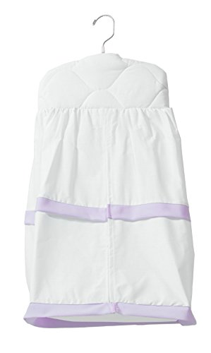 Baby Doll Medallion Crib Diaper Stacker, Lavender