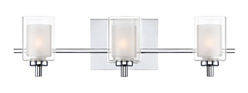 (Quoizel KLT8603CLED Kolt Modern Vanity Bath Lighting, 3-Light, LED 13.5 Watts, Polished Chrome (6