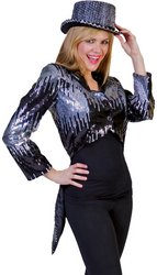WMU - Glitter Tailcoat Silver XLarge