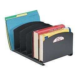 Office Depot 58% Recycled Adjustable Book Rack, Black, ODABR04