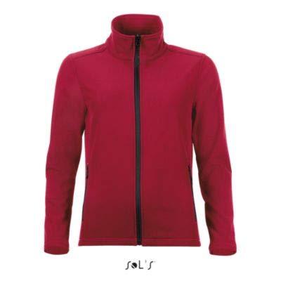 Piment Manches Women Veste Sol's Zippée Race Femme Rouge Longues Softshell cwOxF6qaW