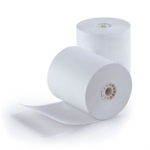 "3 - 1/8"" (80mm) X 230' (3""dia.) Cash Register Thermal Paper Case of 50 Rolls POS BPA FREE MADE IN USA"