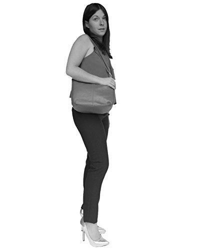 histoireDaccessoires - Bolso de Cuero de Mujer para Llevar al Hombro - SA002214FI-Lamberto Rojo