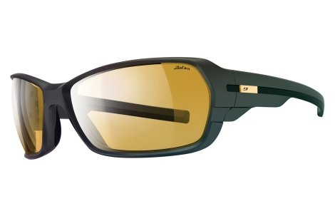 Julbo Dirt 2.0 Performance Sunglasses, Matte Black/Black, Zebra Light Lens, Large (Zebra Anti Fog Photochromic Lens)