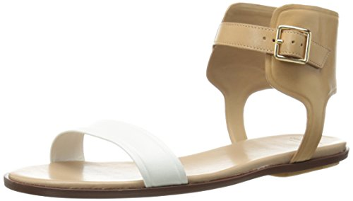 Cole Haan Women's Barra Sandal,Optic White/Sandstone/Maple Sugar,9.5  B US (Sandstone Footwear)