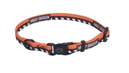 "Harley-Davidson Li'l Bikers Checkered 8""-12"" Adj. Nylon Pet Collar - 8""-12"" Adjustable"