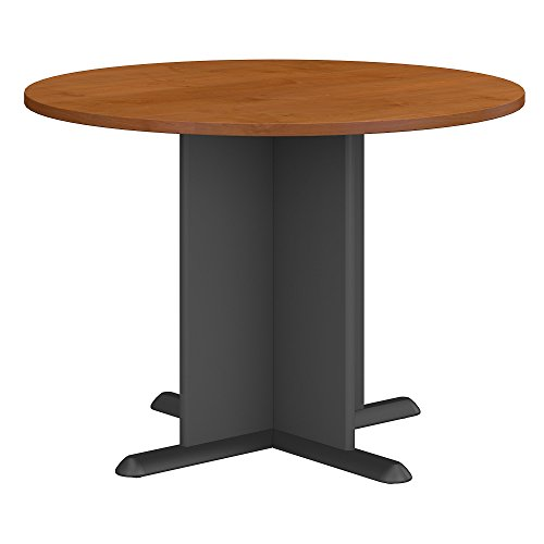 - Bush Business Furniture Series A & C 42 Inch Round Conference Table in Natural Cherry