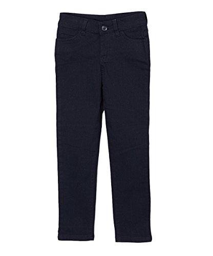 UNIK Girl's Uniform Skinny Pants, Navy Size 10