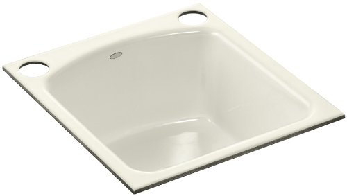 KOHLER K-5848-2U-96 Napa Undercounter Entertainment Sink, Biscuit (U96 Biscuit)