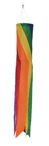 Hoop Diagonal (In the Breeze Rainbow Diagonal Sections - 33 Inch Windsock - Colorful Hanging Decoration - Red, Orange, Yellow, Green, Blue, Purple)