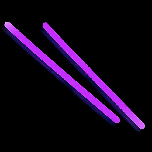 Fun Central F0, 25 Pcs, 10 Inches Purple Glow Sticks, Glow in The Dark Sticks Party Supplies, Glow Party Lights, Light Up Sticks, Bright Glow Toy for Kids, Glowing Sticks for Concerts, Rave Party]()