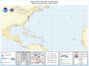 Oceangrafix Hurricane Tracking Chart: Full Atlantic ()