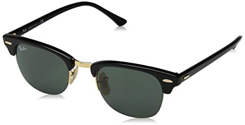 Ray-Ban RB4354 Round Sunglasses, Black/Green, 48 ()