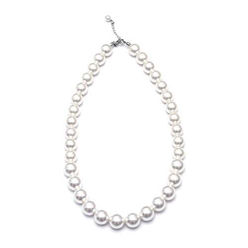 Order Eco Friendly Resin (WELLKAGE Kids Pearl Necklace for Girls (White) Ecofriendly Synthetic-resin)