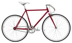 Critical Cycles Crimson Fixie (Single-Speed Fixed-Gear Urban Commuter Bicycles)