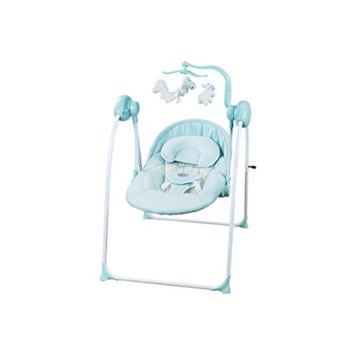 AIBAB Chair Bouncers 0-24 Months Use Electricity Vibrating Screen Music Bluetooth USB Interface Control Panel Operation Summer Breathable from AIBAB