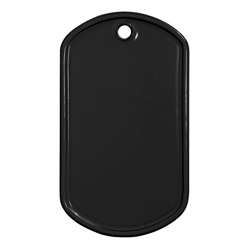 Military Dog Tags Black Coated Stainless Steel 25 Count