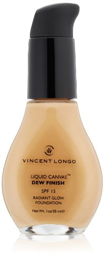 VINCENT LONGO Liquid Canvas Dew Finish Foundation SPF 15, Medium Beige, 1 fl. oz.