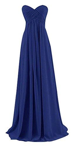 Drasawee Blau Kleid Damen Bandeau Königsblau qqzUBAx