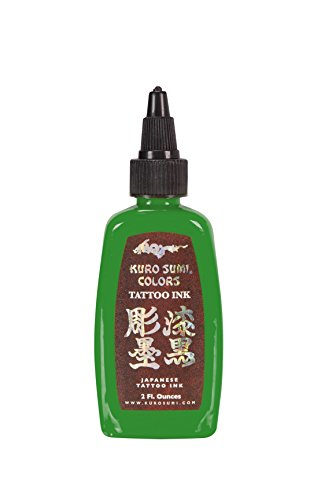- Kuro Sumi Tattoo Ink, Green Apple Blossom, 2 Ounce