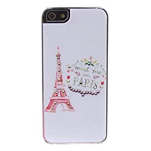 Unique Painting Eiffel Tower Pattern Hard Case for iPhone 5/5S