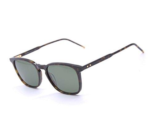 EyeGlow Sunglasses Men and Women Polarized lens Acetate Material SPIRAL (Tortoise vs Green polarized - Vs Mirrored Polarized