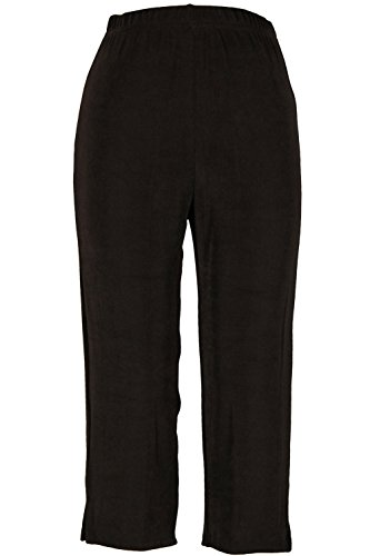 Jostar Women's Acetate Capri Pants Plus 1XL Brown
