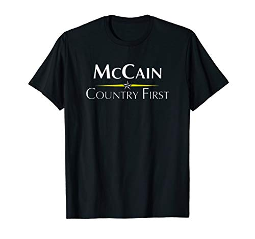 Mens Tee shirt Senator John McCain An American Hero by NTPL Tshirt Loves John McCain