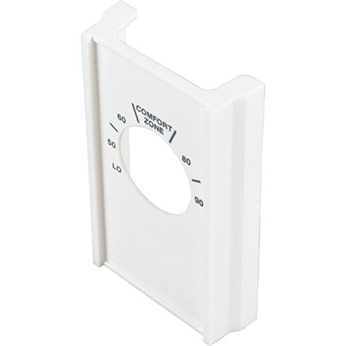 (White Single Pole Line Volt Thermostat Cover For Old Style S22 - HVAC)