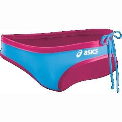 - ASICS Women's Kaitlyn Bikini Bottom, Magenta/Surf, Medium