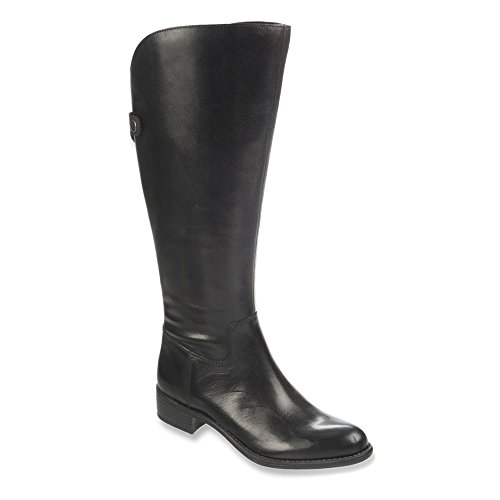 Women's Naturalizer 'Mint' Leather Boot Black Wide Calf Size