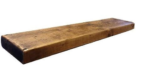 kowoodworks solid french oak 27mm thick wood floating shelf shelves rh amazon co uk  dark oak floating shelf