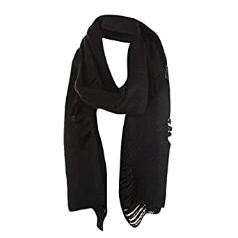 Warm Scarf Stole For Women, Attlee Winter Extra Large Solid Lambswool Pashmina Scarf Bib at