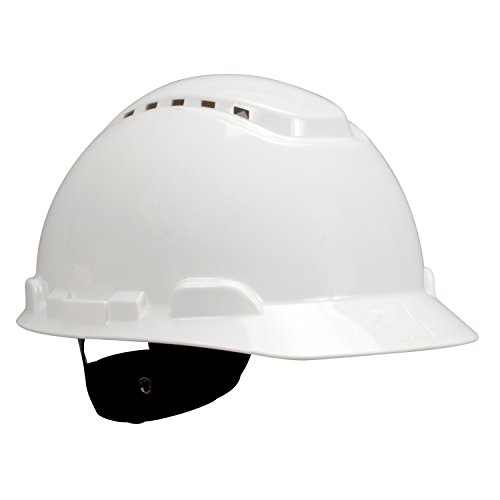 Hard Hat, Vented, 4 pt Ratchet, White