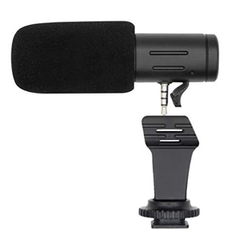Digital Video Condenser Microphone Studio Stereo Shotgun Recording 3.5mm Microphone Universal for DSLR Camera Cellphone COOLDBOYS