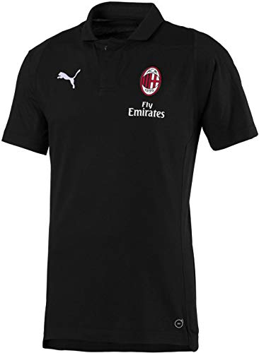 4c8a59d412c PUMA Men's AC Milan Casual Performance Polo SS Shirt, puma Black/puma  White, M
