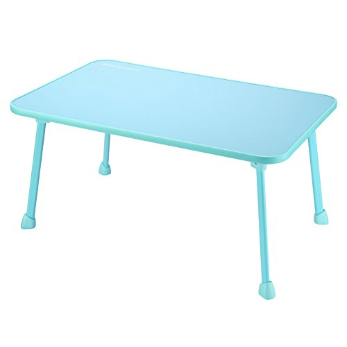 Large Bed Tray NNEWVANTE Laptop Desk Lap Desk Foldable Portable Standing Outdoor Camping Table, Breakfast Reading Tray Holder for Couch Floor Adults Students Kids Young Color(Blue)
