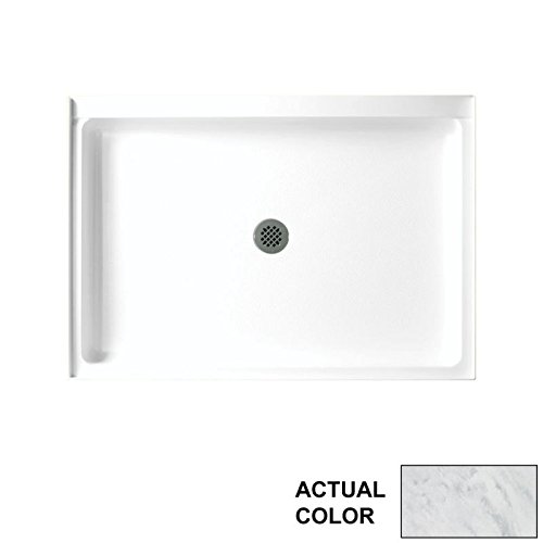 (Swan SF03248MD.131 Solid Surface Center Drain Shower Base, 48-in L X 32-in H X 5.5-in H, Tundra)