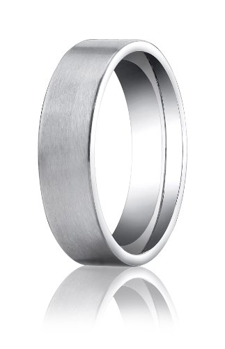 Mens Platinum, 6mm Comfort-Fit Satin-Finished Carved Band (sz (Platinum Satin Comfort Fit Band)