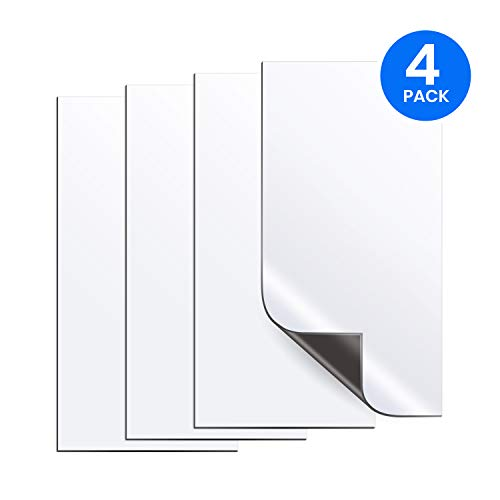Velotech 4 Pack Magnetic Vent Covers 2MM Extra Thick UltraStrong Anisotropic Magnets To Seal Vents, Stop Air and Save Energy; Use as Register Covers, Floor Vent Covers or Ceiling Air Vent Covers