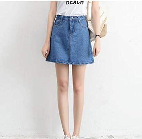 HEHEAB Falda,Verano Azul Faldas De Cintura Alta Plus Size Womens ...