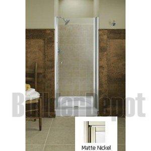 Fluence Pivot Shower Door - KOHLER K-702404-G54-MX Fluence Frameless Pivot Shower Door, Matte Nickel