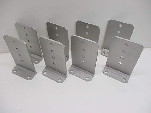 CTW (8) Vertical Pontoon Boat Trailer Bunk Bolster L Brackets / 5