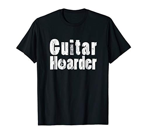 Guitar Lover Distressed Tee Shirt