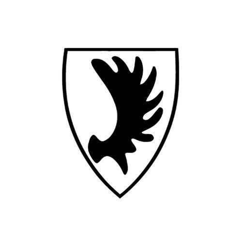 East Prussia coat of arms elk shovel car provincial badge emblem (black 10x8cm) - Sticker Wall ()