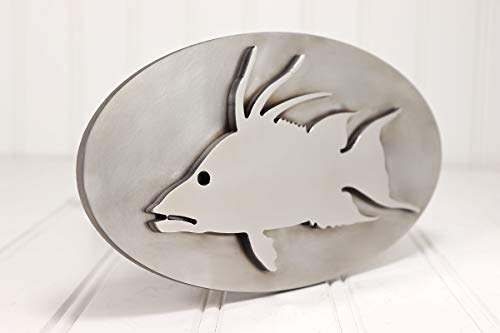 Custom Hitch Covers 12832-Stainless Steel Hogfish Hitch Cover, 2