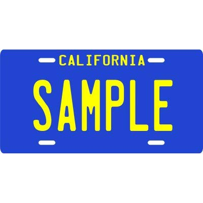Vintage 1946 Your Name Your State Custom Metal License Plate - Choose from All 50 States (CA Blue 1960's, 6